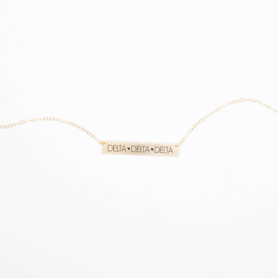 Bar-Necklace-Gold-H635-Delta-Delta-Delta-block-letters-2