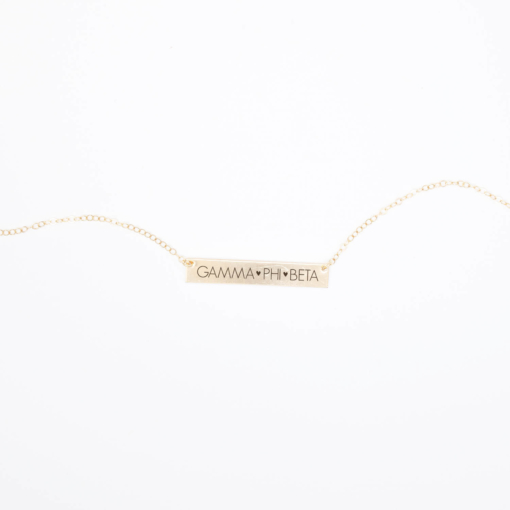 Bar-Necklace-Gold-H635-Gamma-Phi-Beta-block-letters-2