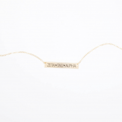 Bar-Necklace-Gold-H635-Zeta-Tau-Alpha-block-letters-2