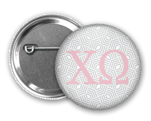 ChiO Geometric Pin Back Button Mock Up
