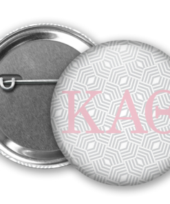KAO Geometric Pin Back Button Mock Up