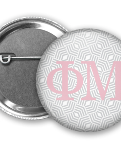 Phi Mu Geometric Pin Back Button Mock Up