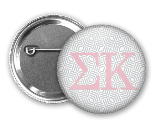 SK Geometric Pin Back Button Mock Up