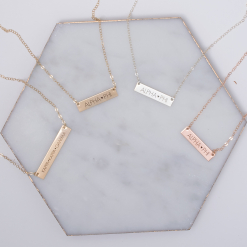 New Sorority Bar Necklace