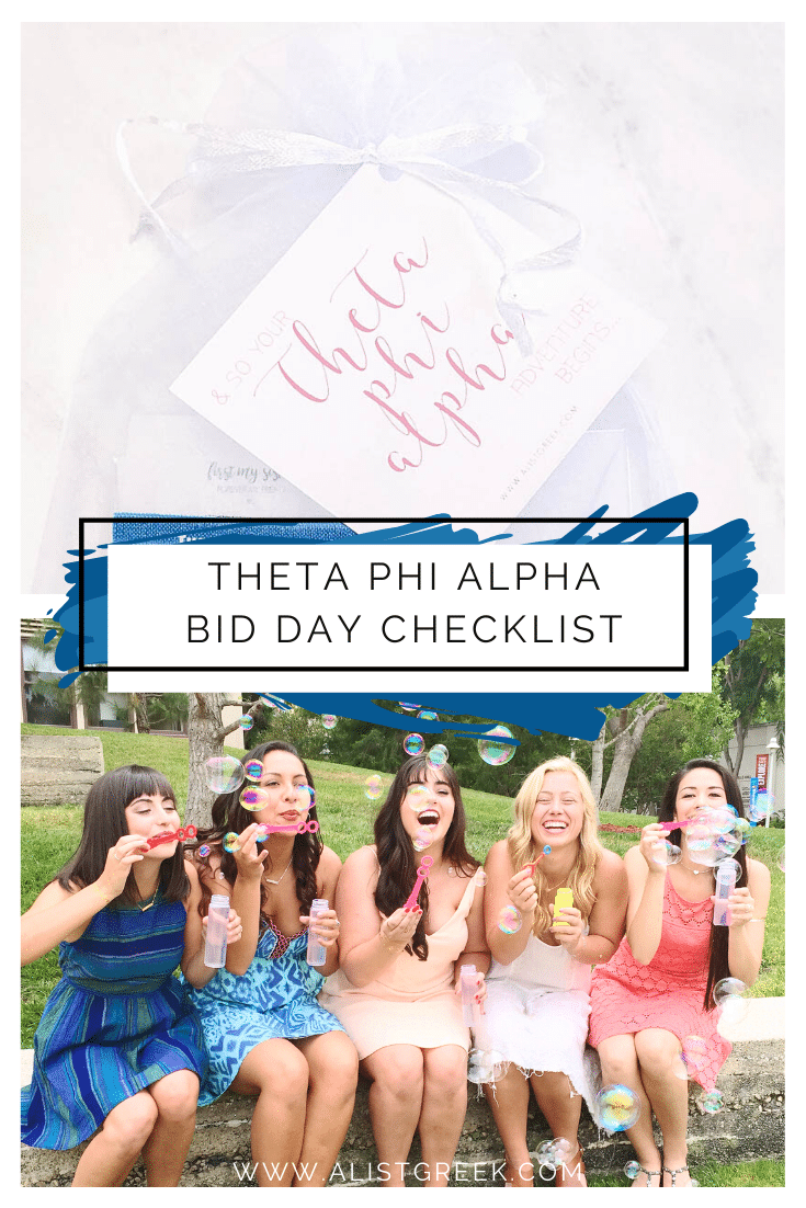 Theta Phi Alpha Bid Day Checklist Blog Feature Image