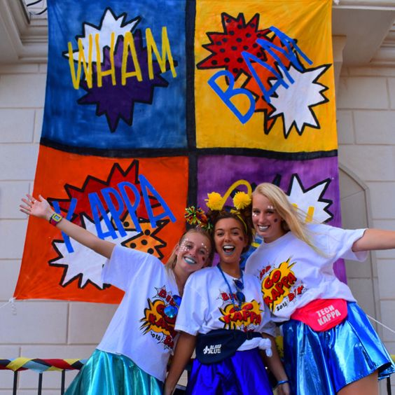 Wham Bam Kappa Gama Bid Day Theme taken from Instagram @hal3yharman