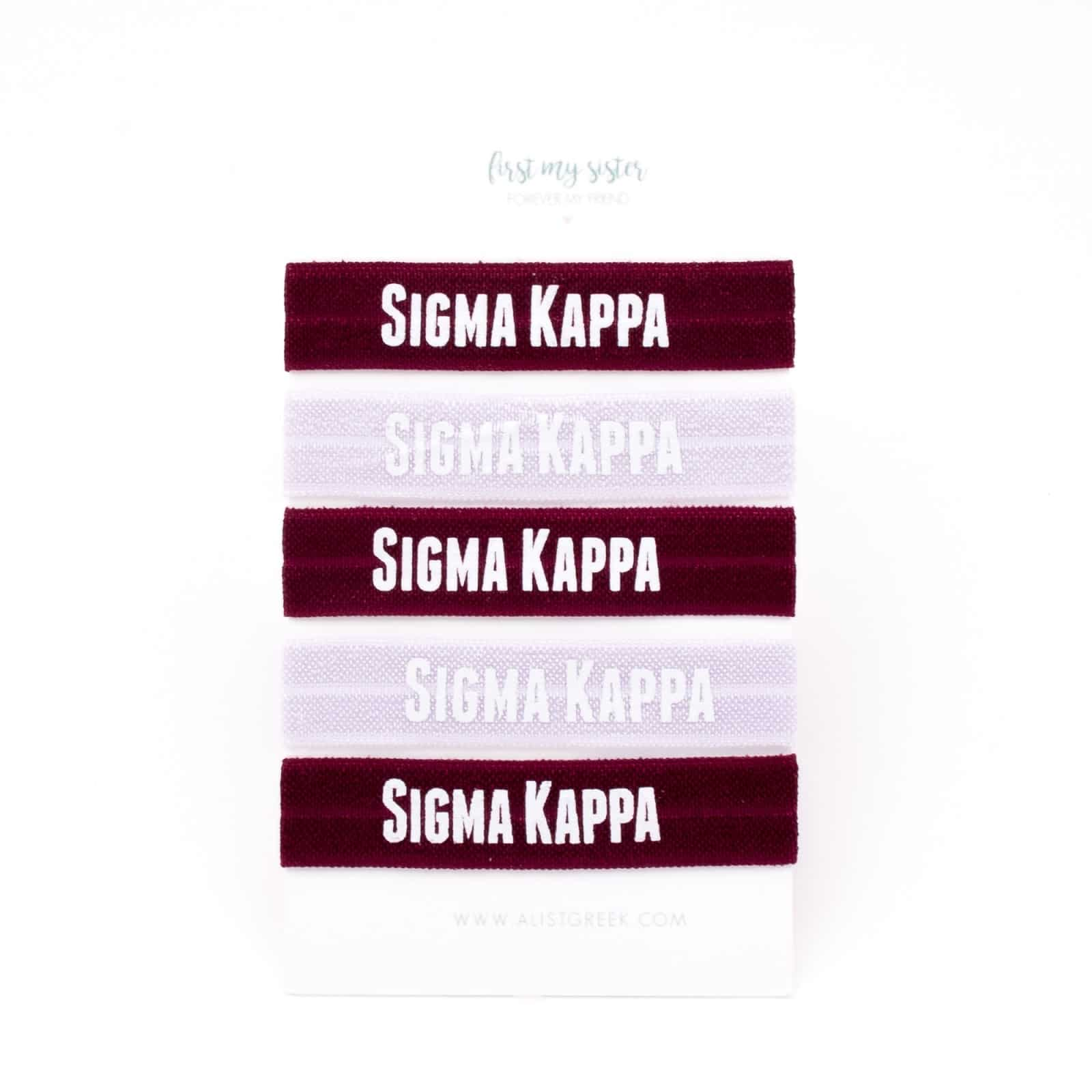 Sigma Kappa Hair Ties