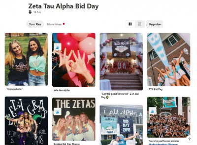 zeta tau alpha bid day pinterest board