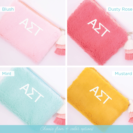 4 color options teddy bear bag alpha sigma tau