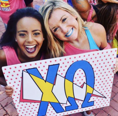 Chi Omega DIY Bid Day Sign