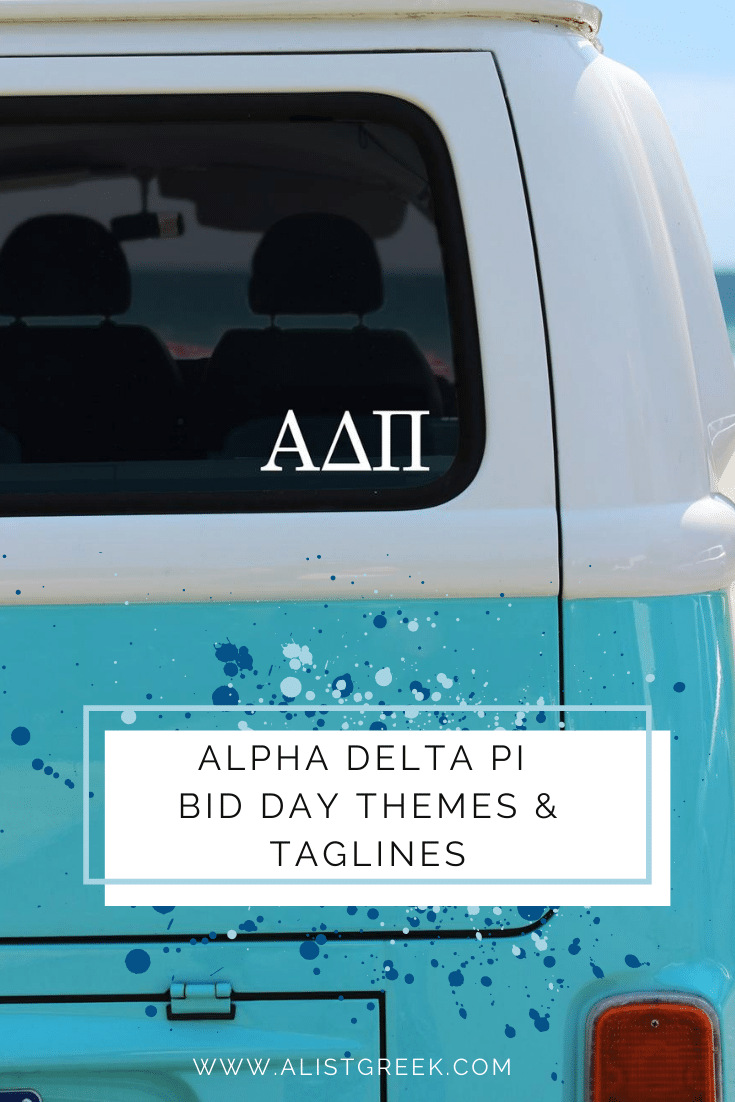 Alpha Delta Pi Bid Day Themes and Taglines Blog Feature Image