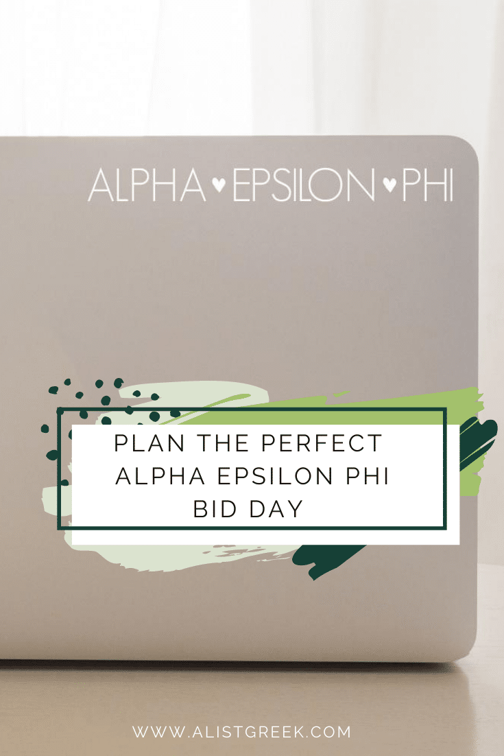 Alpha Epsilon Phi Plan the perfect Bid Day Blog feature Image