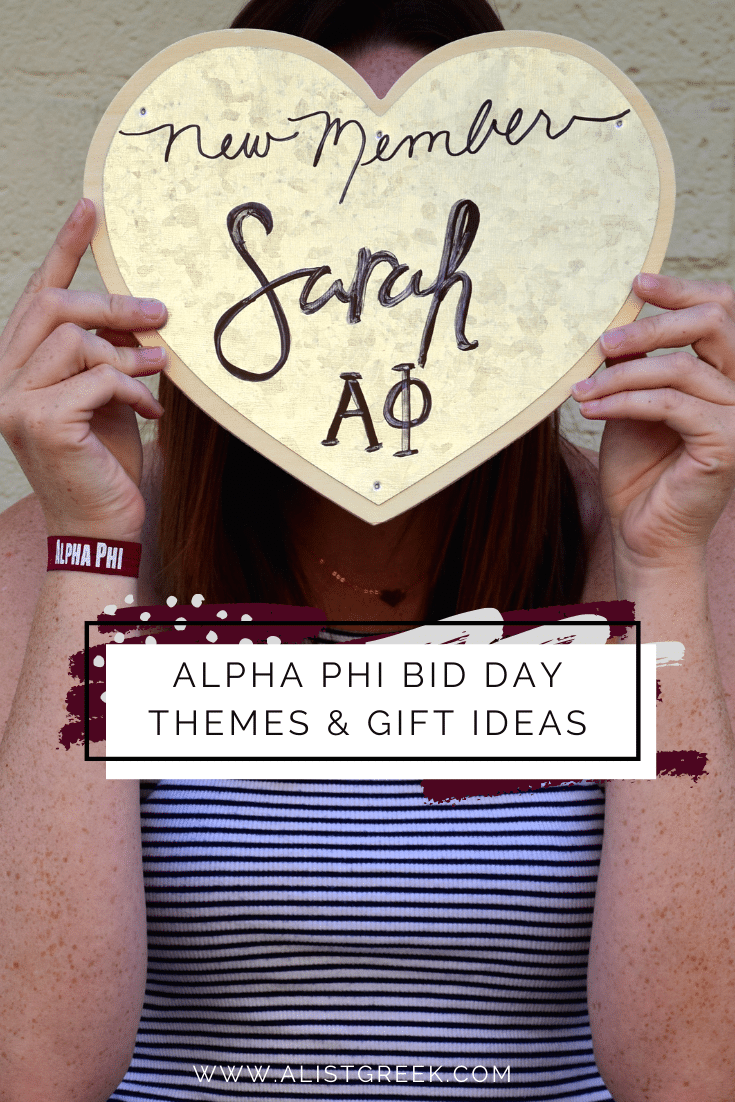 Alpha Phi Bid Day Themes and Gift Ideas Blog Feature Image