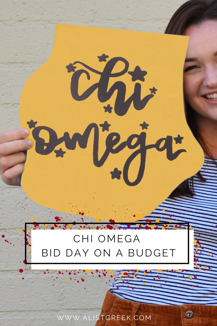 Chi Omega Bid Day in a Budget Blog Feature Image