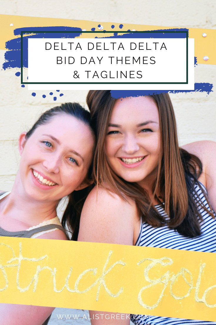 Delta Delta Delta Bid Day Themes and Taglines Blog Feature Image