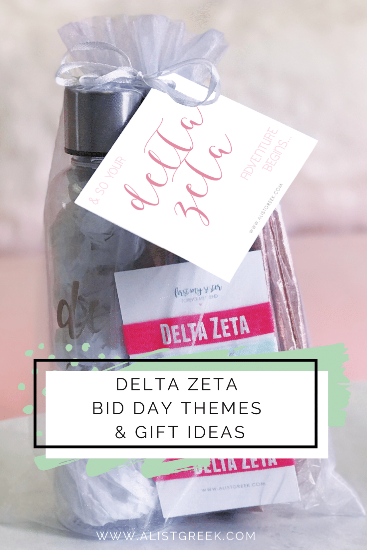 Delta Zeta Bid Day Themes & Gift Ideas Blog Feature Image