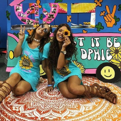 Let It Be DPhiE 70's themed bid day