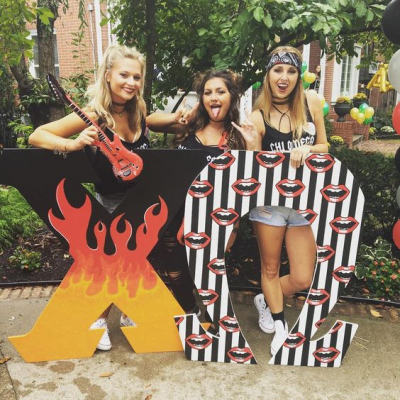 Chi Omega Rock & Roll Bid Day Theme
