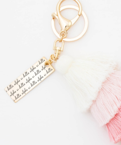 Sunset-Fiesta-Tassel-Keychain-Alpha-Xi-Delta-MorningDew-Closeup