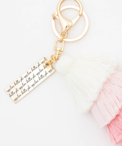 Sunset-Fiesta-Tassel-Keychain-Delta-Phi-Epsilon-MorningDew-Closeup