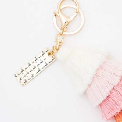 Sunset-Fiesta-Tassel-Keychain-Phi-Mu-MorningDew-Closeup
