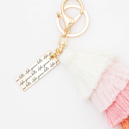 Sunset-Fiesta-Tassel-Keychain-alpha-gamma-delta-morningdew-Closeup