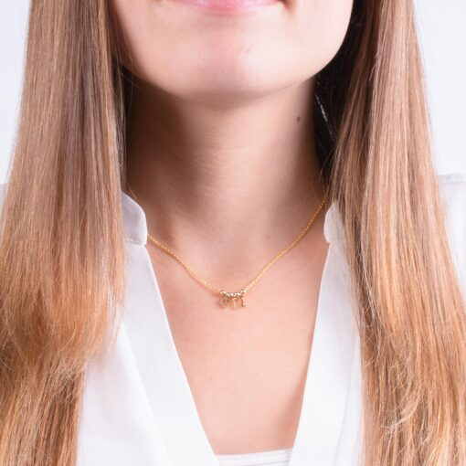 Phi Sigma Sigma Greek Letter Charm Necklace