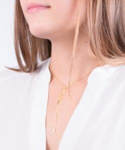 Gamma Phi Beta Greek Letter Charm Necklace Lariat Style