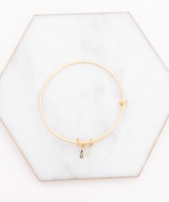 delta gamma greek letter charm bangle gold on marble